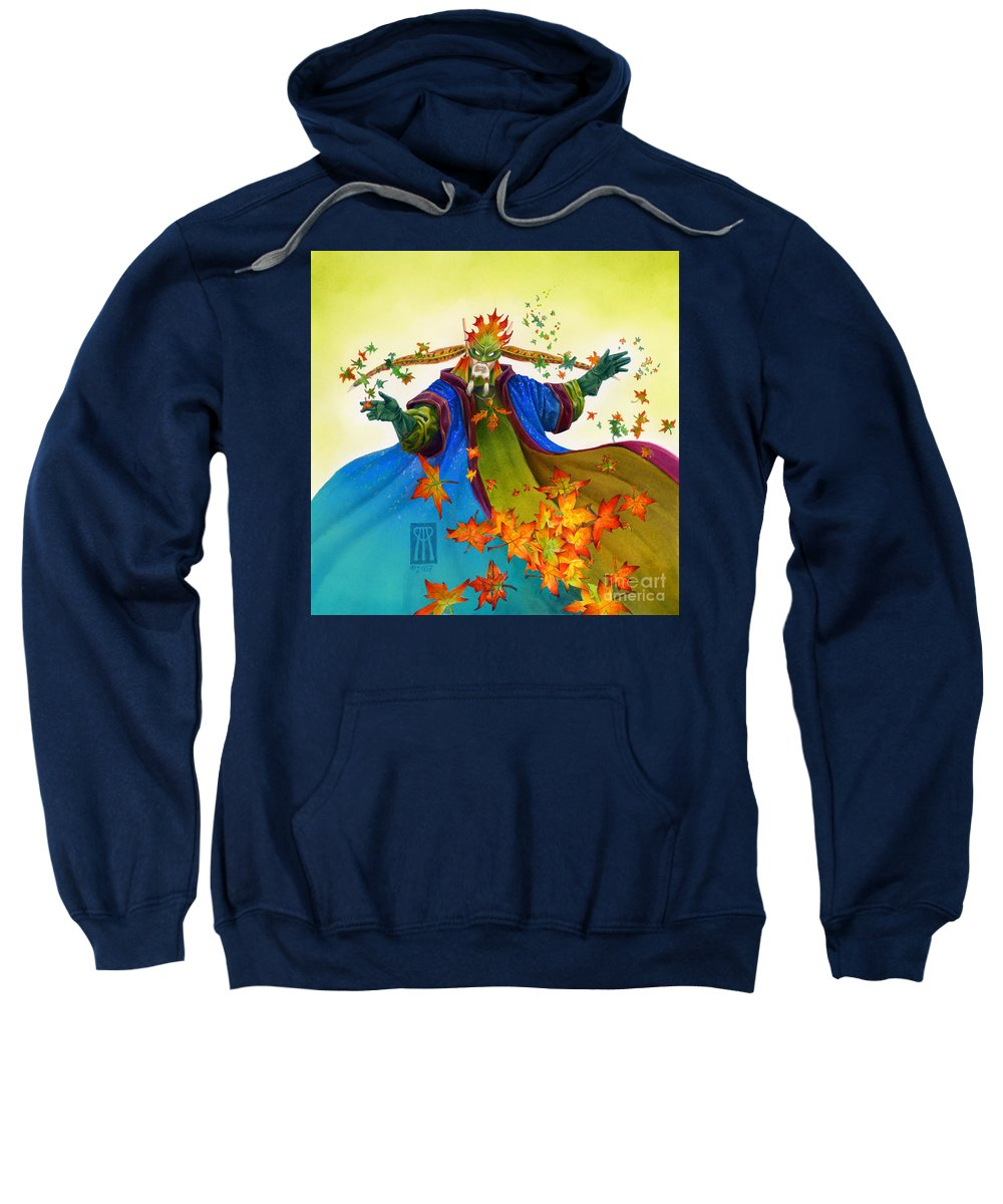 Elf Sweatshirt featuring the painting Elven Mage by Melissa A Benson