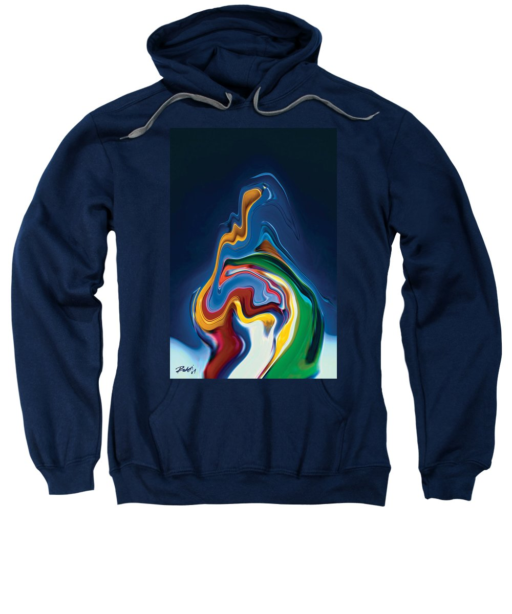 Sweatshirt featuring the digital art Embrace by Rabi Khan