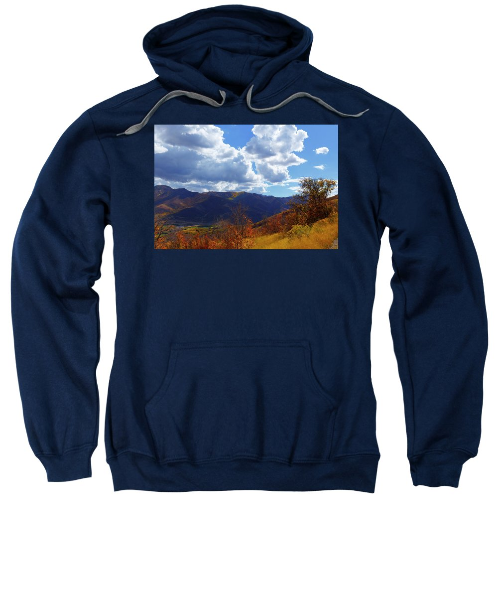 Autumn Sweatshirt featuring the photograph Emigration Canyon by Todd Mitchell