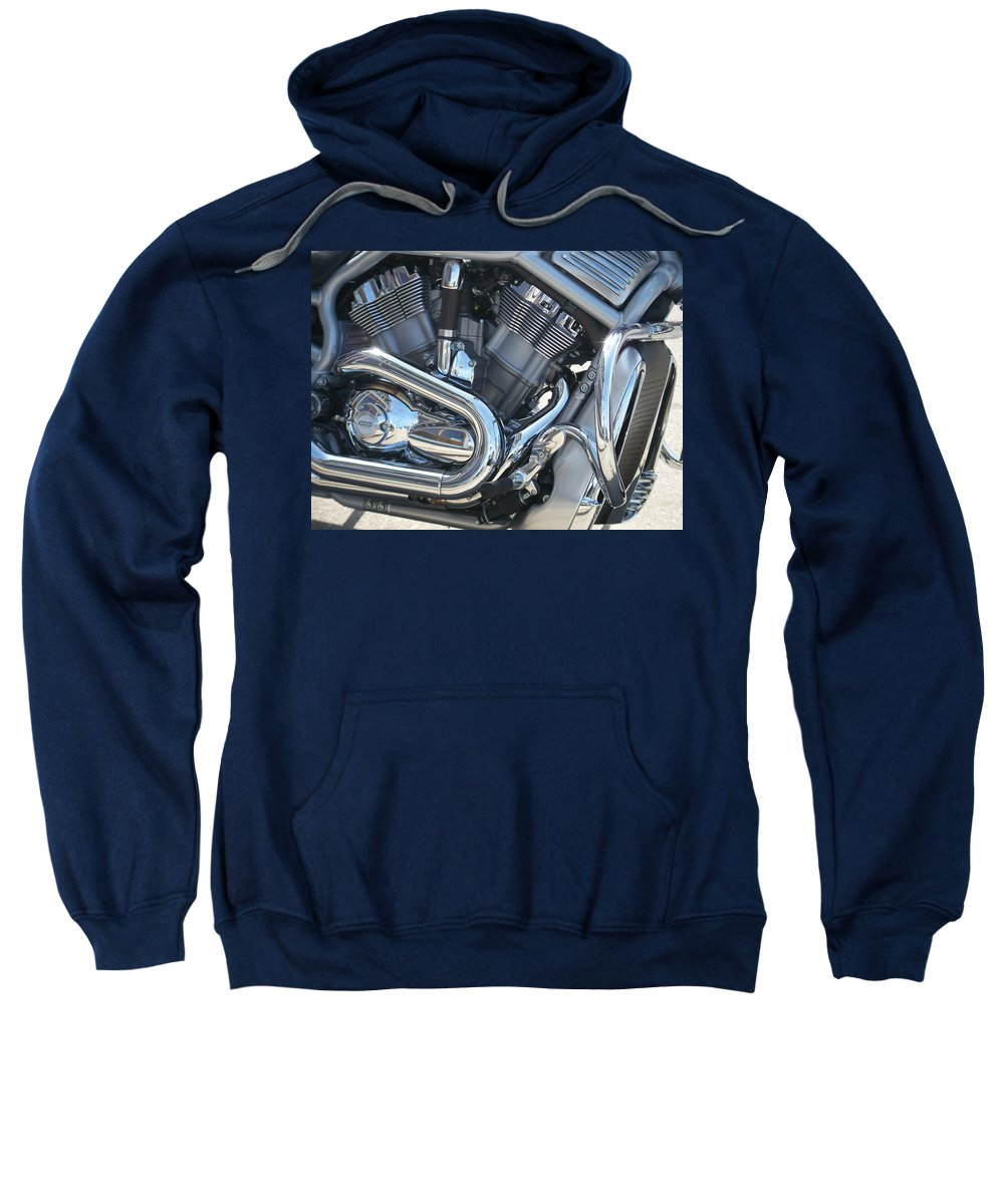 Motorcycle Sweatshirt featuring the photograph Engine Close-up 1 by Anita Burgermeister