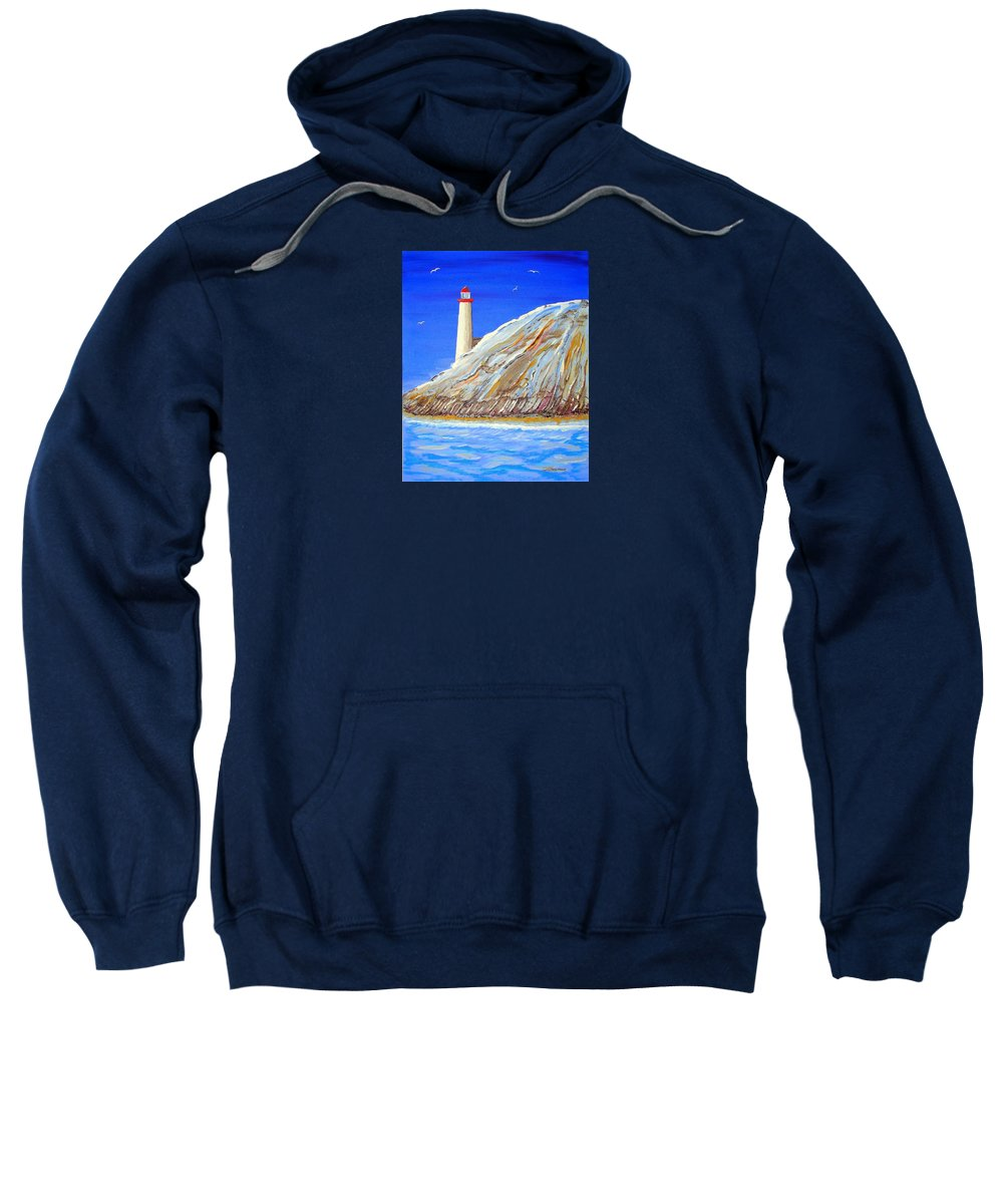 Impressionist Painting Sweatshirt featuring the painting Entering The Harbor by J R Seymour