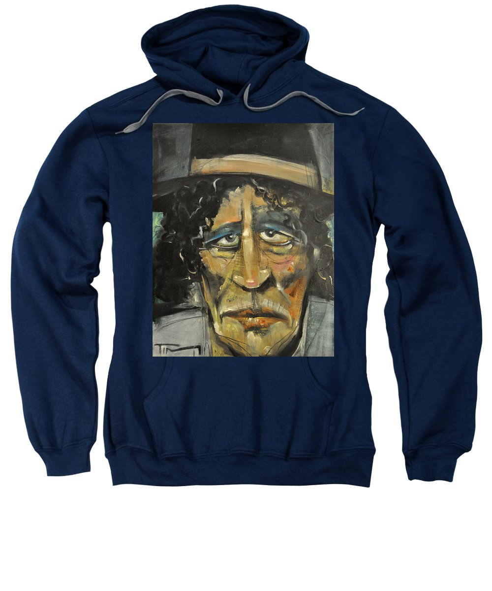 Man Sweatshirt featuring the painting Entertaining Angels Unaware by Tim Nyberg