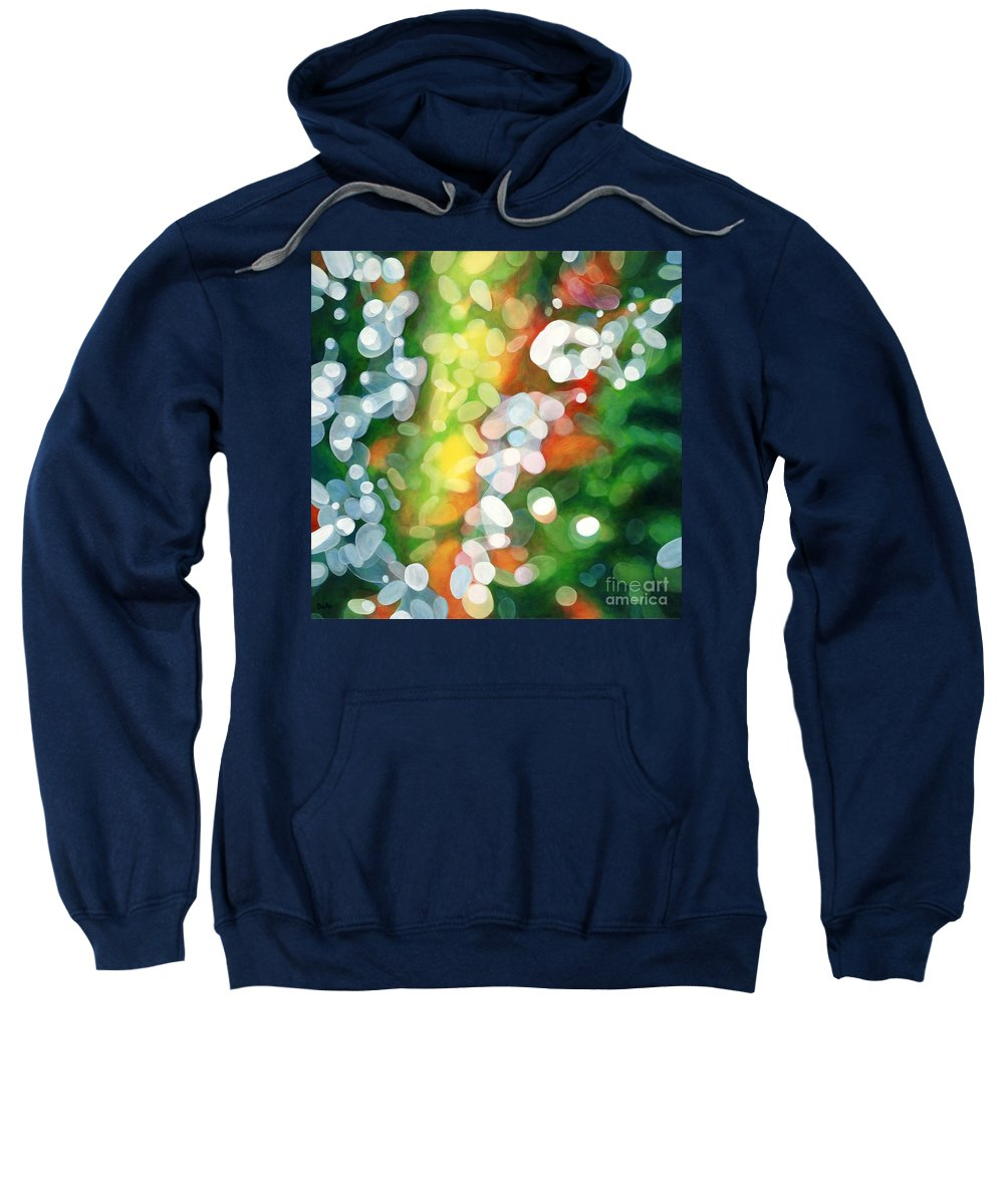 Queen Sweatshirt featuring the painting Eriu Queen of the Emerald Isle by Antony Galbraith