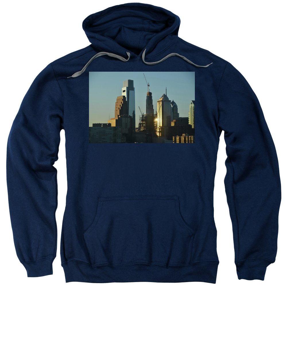 Ever Sweatshirt featuring the photograph Ever Growing Philadelphia by Bill Cannon