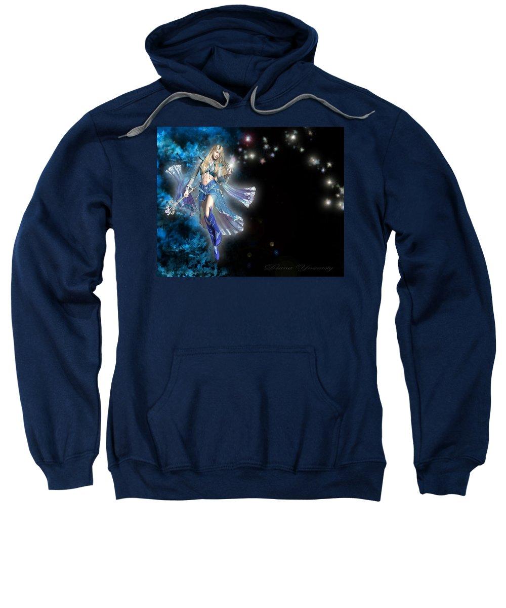 Fairy Sweatshirt featuring the digital art Fairy by Mery Moon