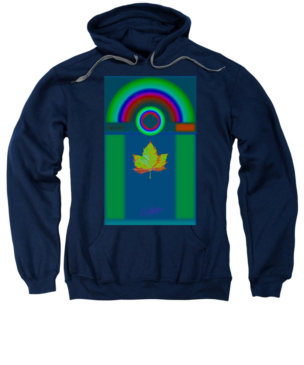 Classical Sweatshirt featuring the painting Fall by Charles Stuart