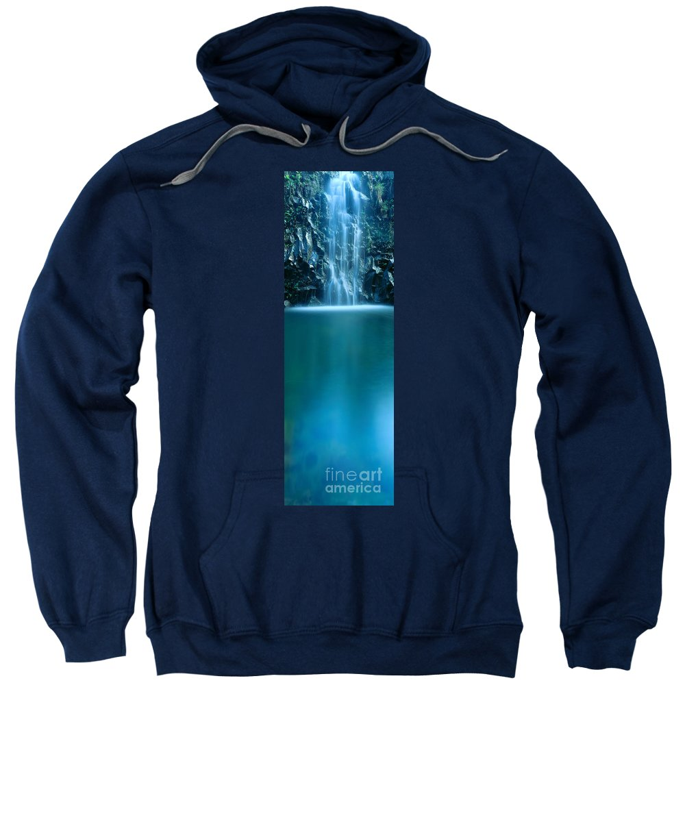 Active Sweatshirt featuring the photograph Falls Pool by Carl Shaneff - Printscapes