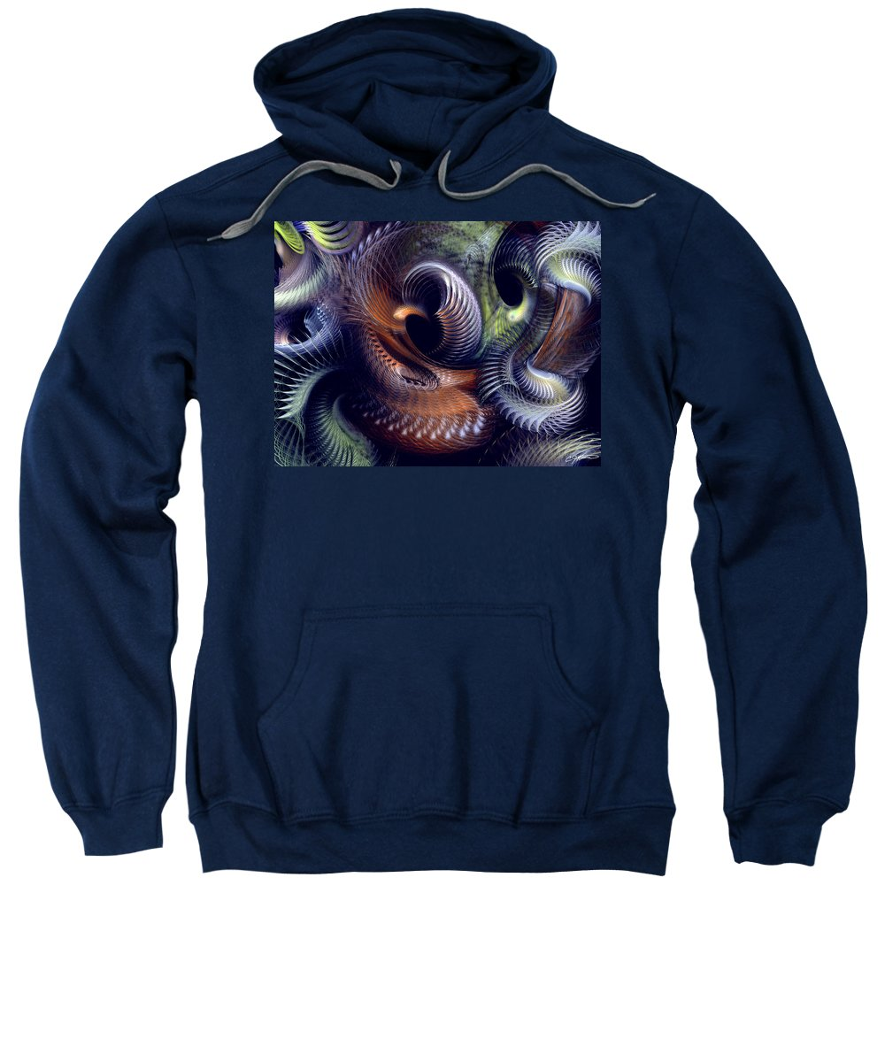 Abstract Sweatshirt featuring the digital art Fantastique by Casey Kotas
