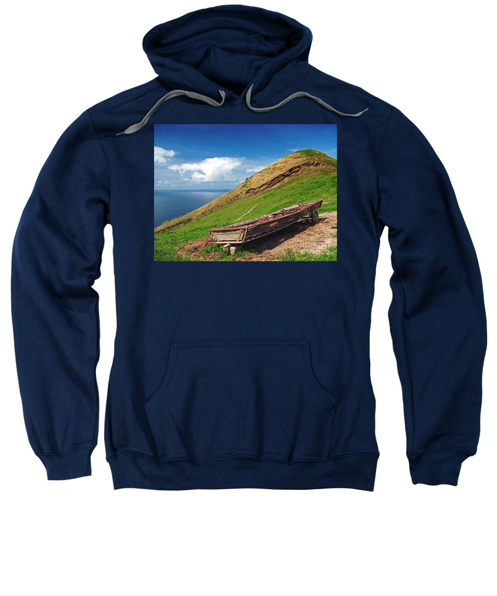 Europe Sweatshirt featuring the photograph Farming In Azores Islands by Gaspar Avila