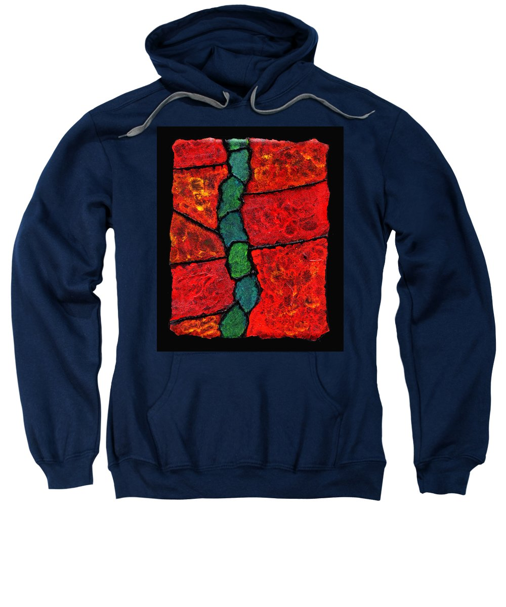 Abstract Sweatshirt featuring the painting Faux Tile Painting One by Wayne Potrafka