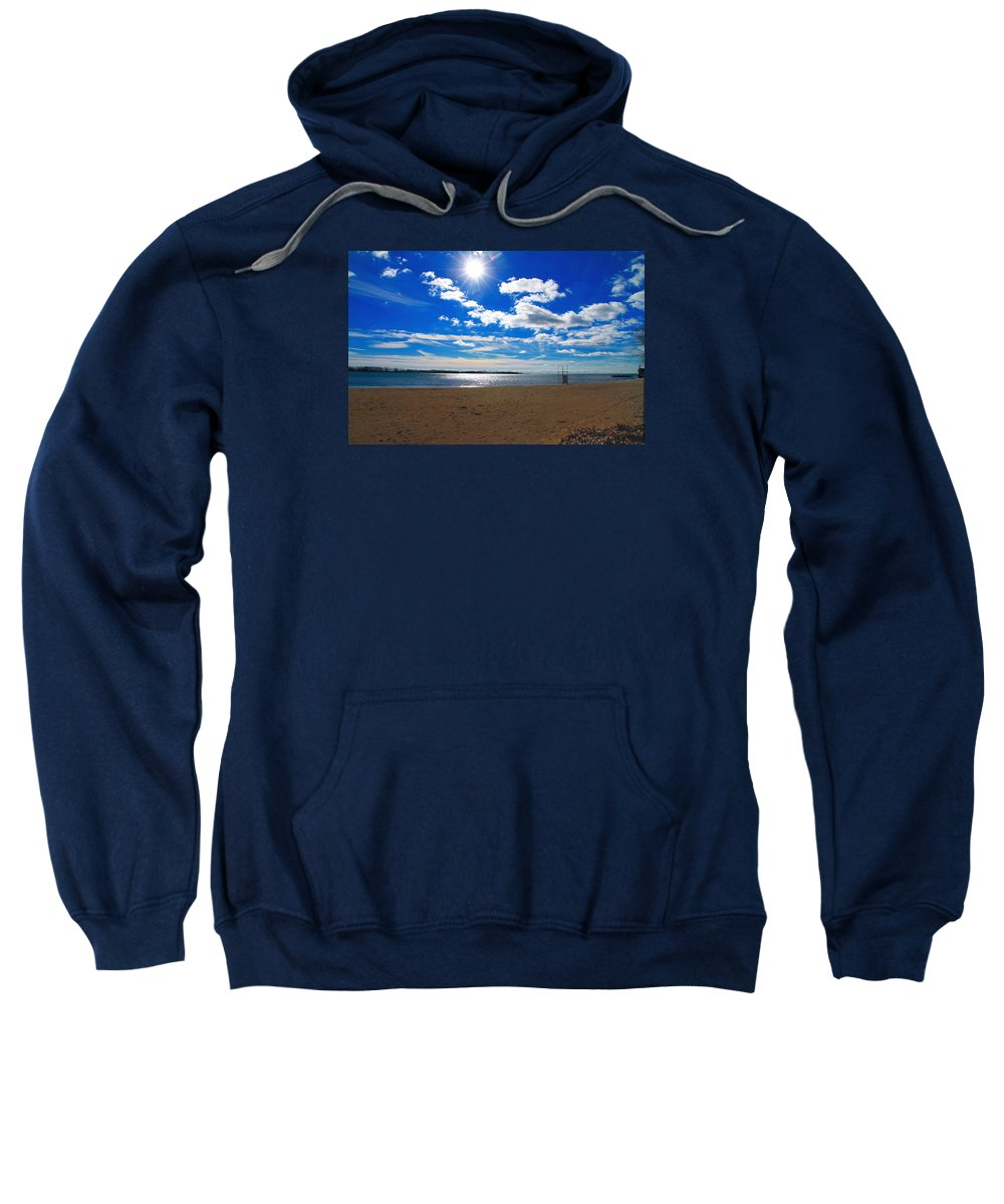 February Sweatshirt featuring the photograph February Blue by Valentino Visentini