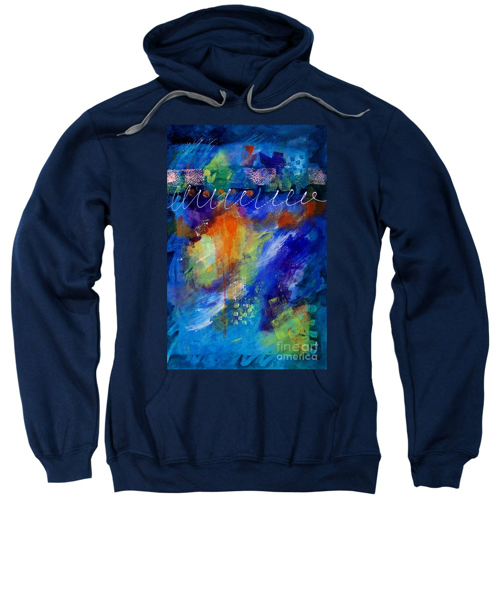 Abstract Expressionism Sweatshirt featuring the painting Fiesta 002 by Donna Frost
