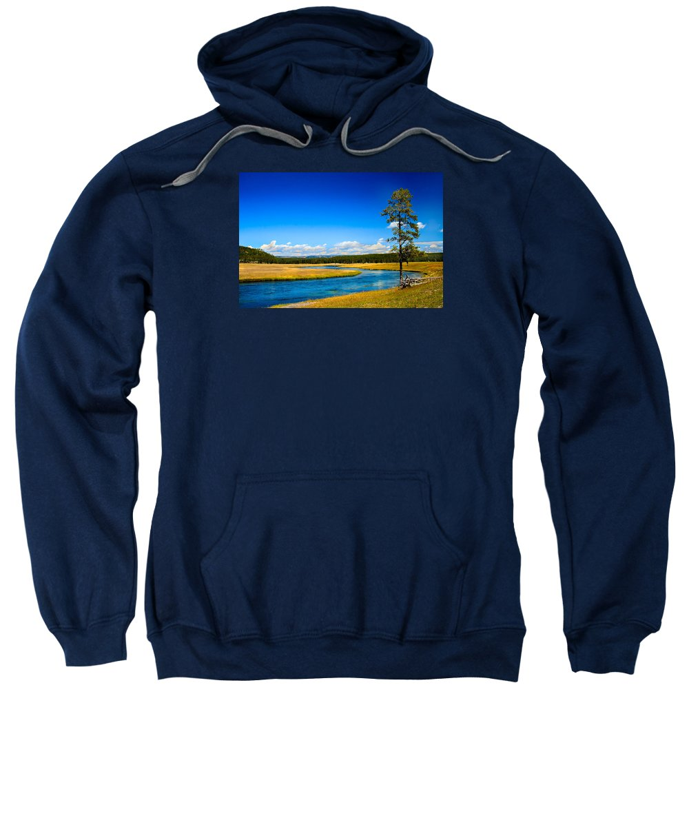 River Sweatshirt featuring the photograph Firehole River by Robert Bales
