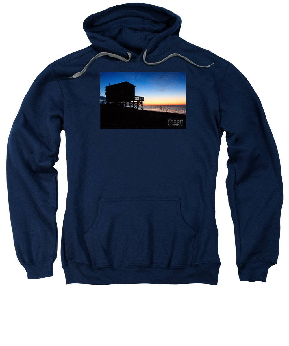 Cottage Sweatshirt featuring the photograph First Light On Beach Road, Falmouth by Jim Hayes