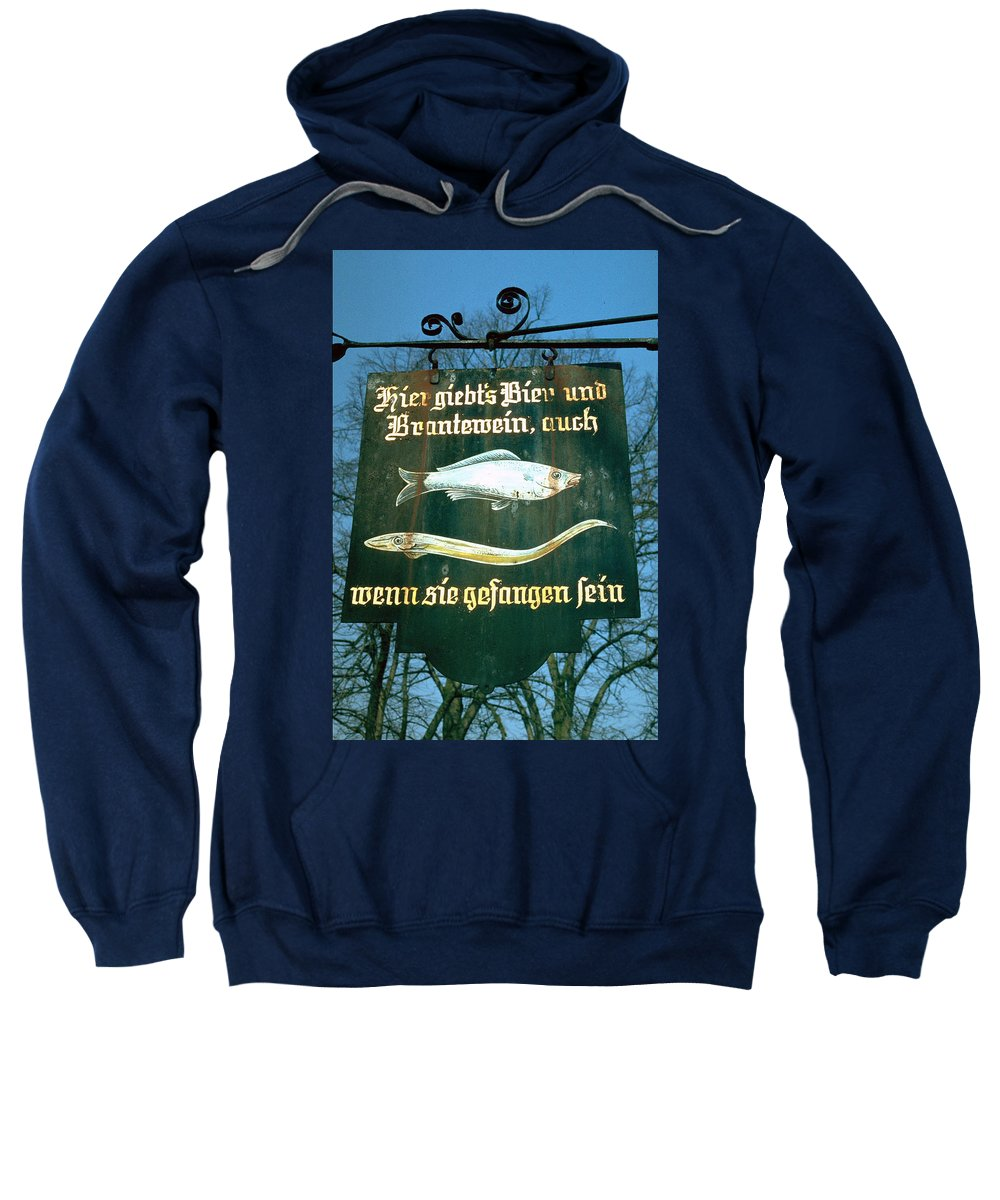 Store Sign Sweatshirt featuring the photograph Fish by Flavia Westerwelle