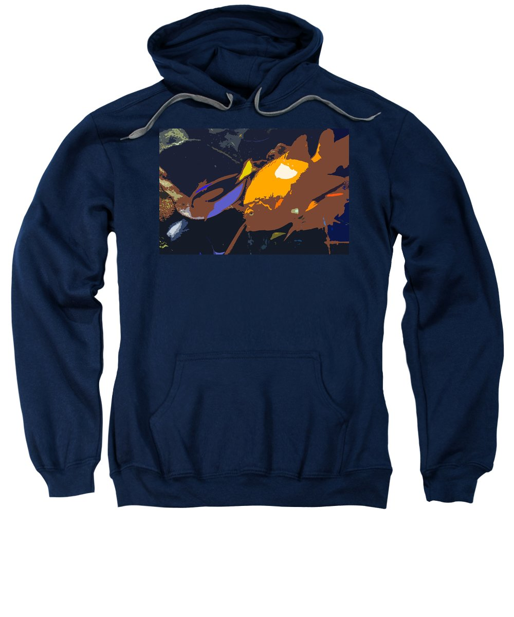 Tropical Sweatshirt featuring the painting Fish Of The Tropics by David Lee Thompson