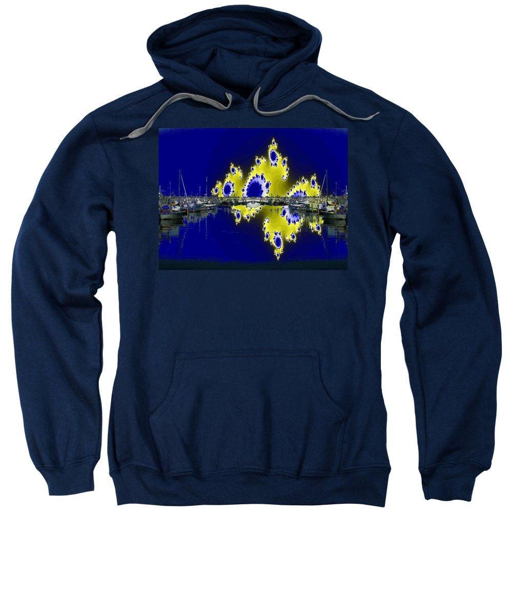 Seattle Sweatshirt featuring the digital art Fishermans Terminal by Tim Allen