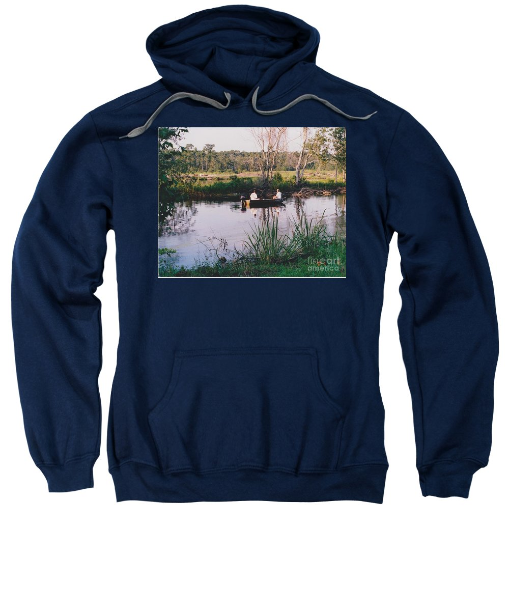 Water Sweatshirt featuring the photograph Fishing In The Bayou by Michelle Powell
