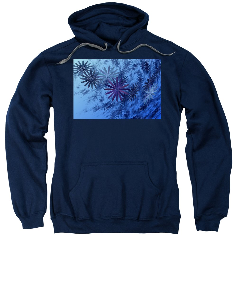 Digital Photography Sweatshirt featuring the digital art Floating Floral-010 by David Lane