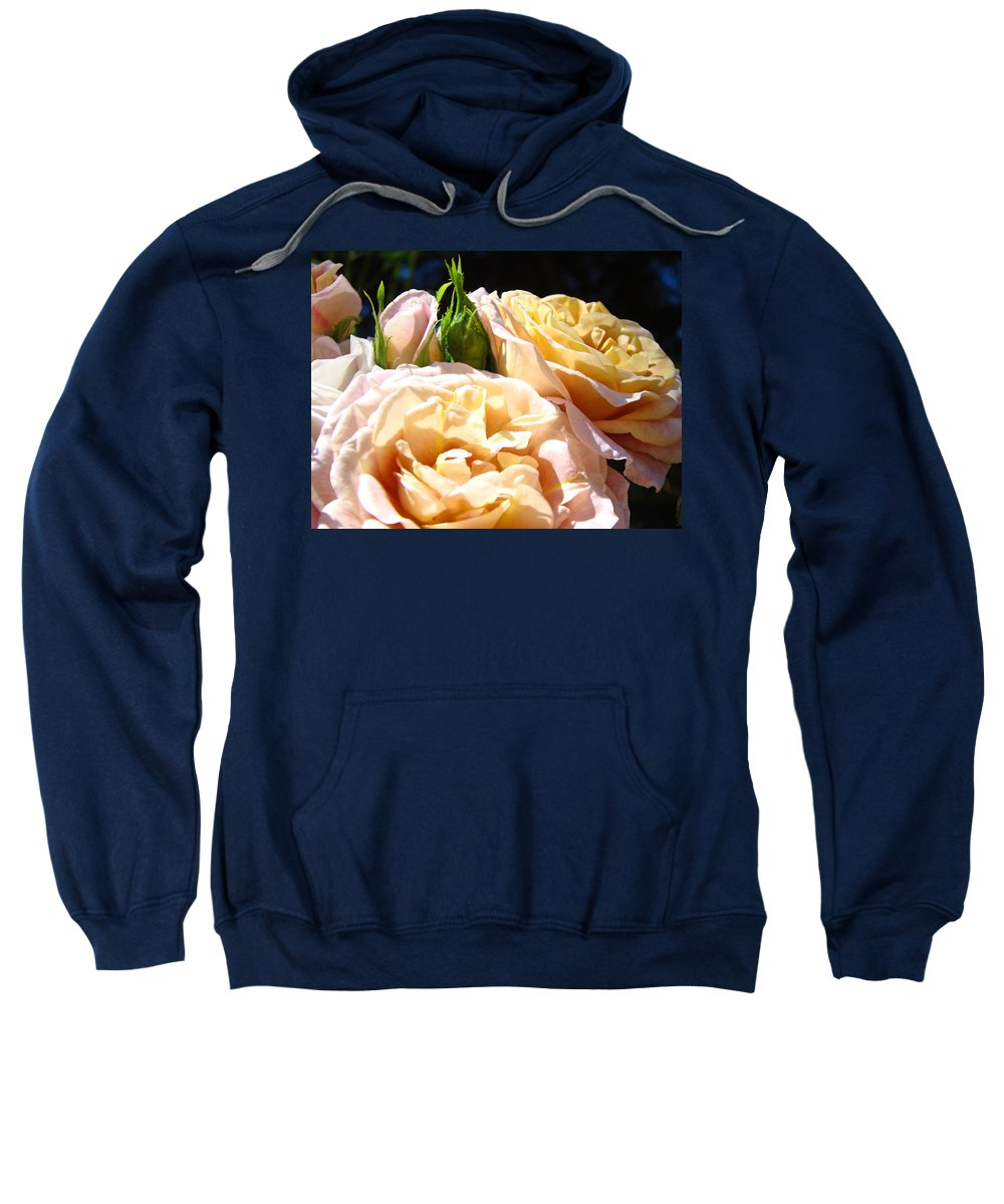 Rose Sweatshirt featuring the photograph Floral Roses Garden Art Prints Baslee Troutman by Baslee Troutman