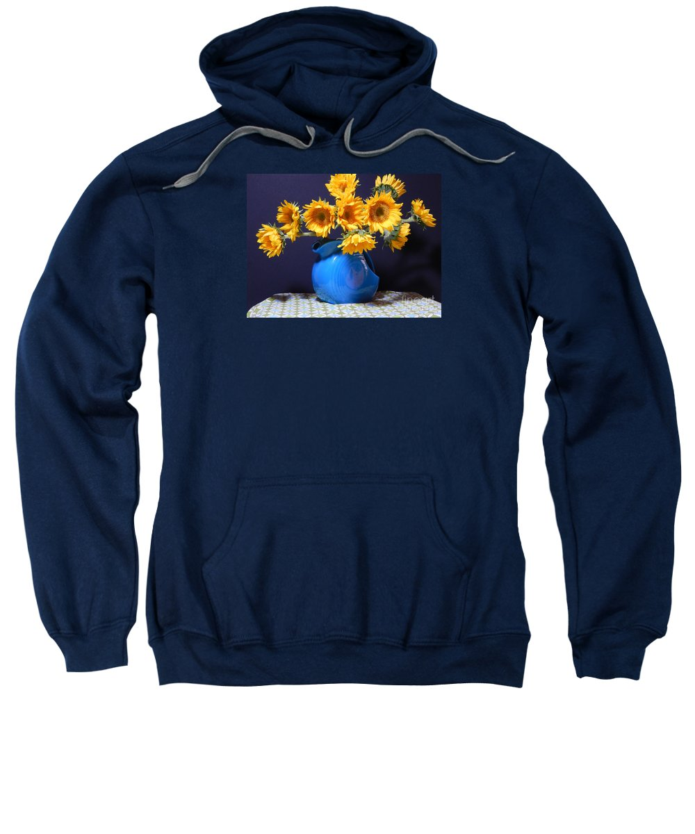 Contemporary Art Sweatshirt featuring the photograph Flowers Of The Sun by Sharon Nelson-Bianco