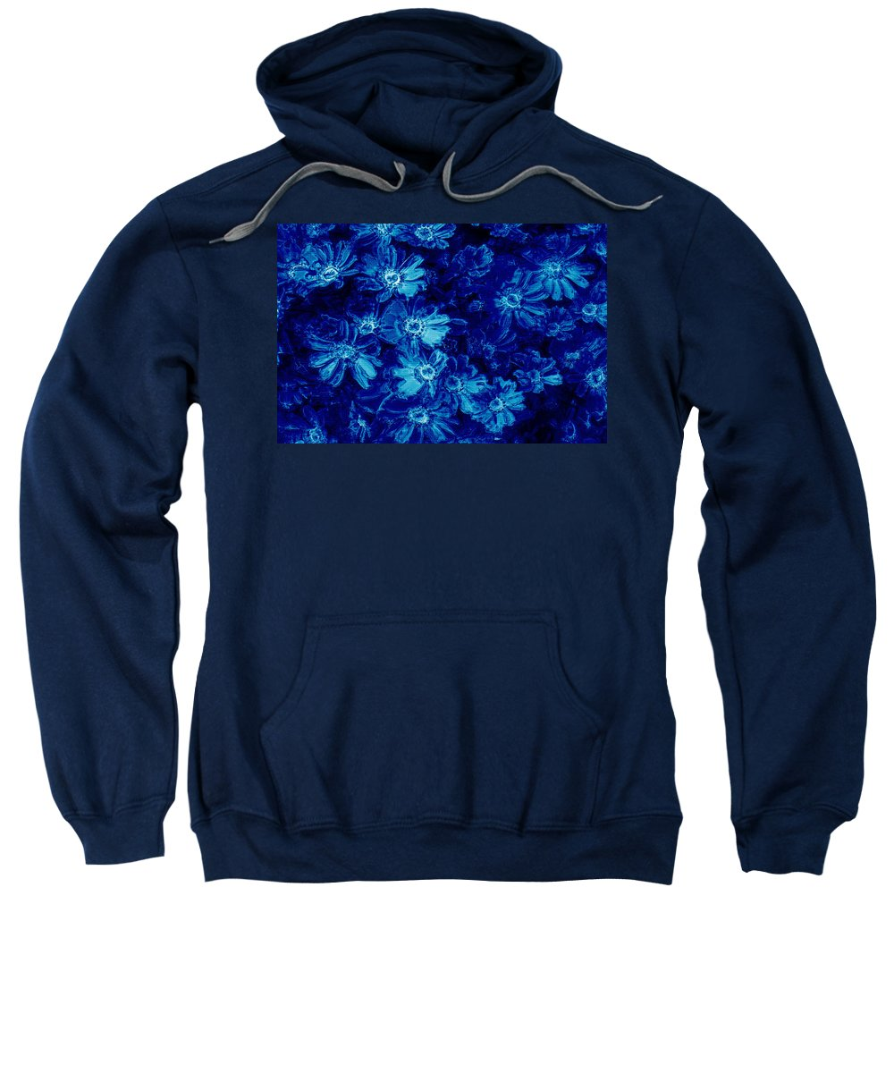 Tile Sweatshirt featuring the photograph Flowers On Tiles by Phill Petrovic