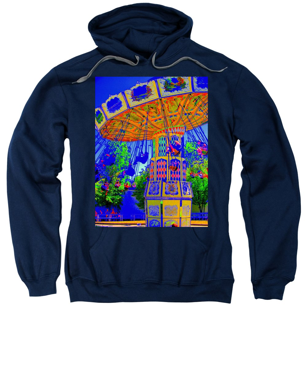 Flying High Sweatshirt featuring the photograph Flying High by Ed Smith