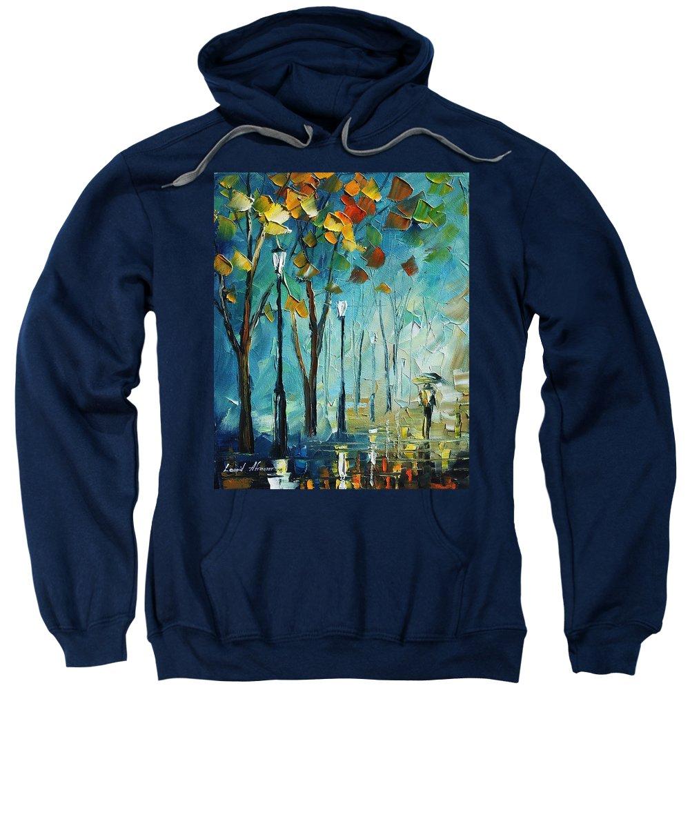 Afremov Sweatshirt featuring the painting fog by Leonid Afremov