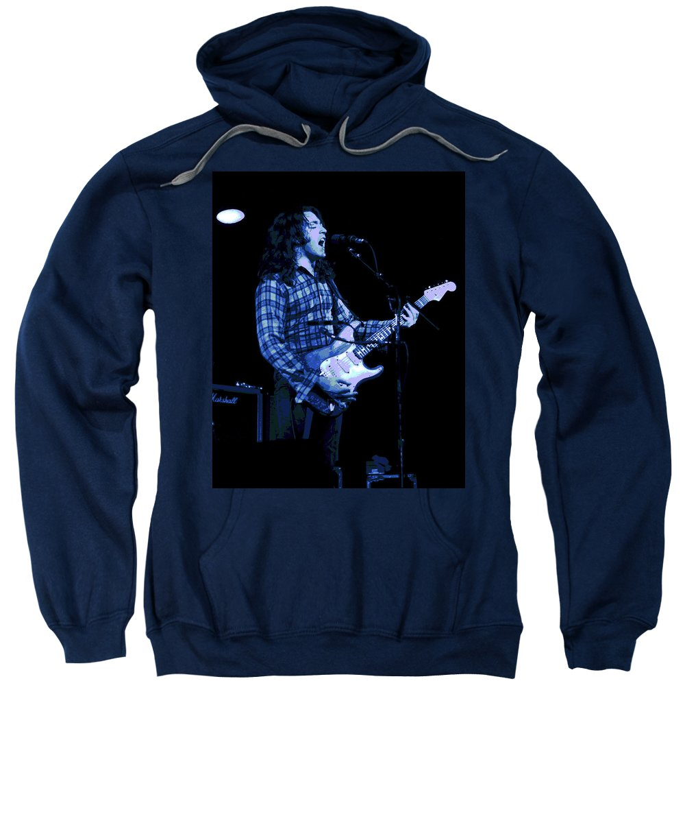 Rock Musicians Sweatshirt featuring the photograph Follow Me by Ben Upham