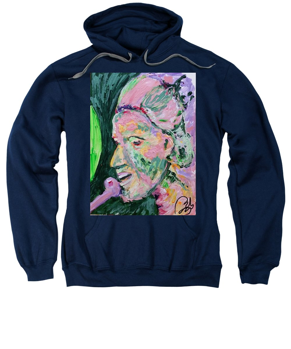 Portrait Sweatshirt featuring the painting Following In The Footsteps Of Matisse by Bachmors Artist