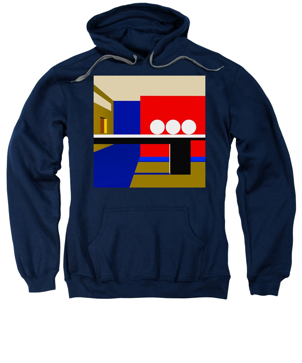 Abstract Sweatshirt featuring the digital art Following Through by Richard Rizzo
