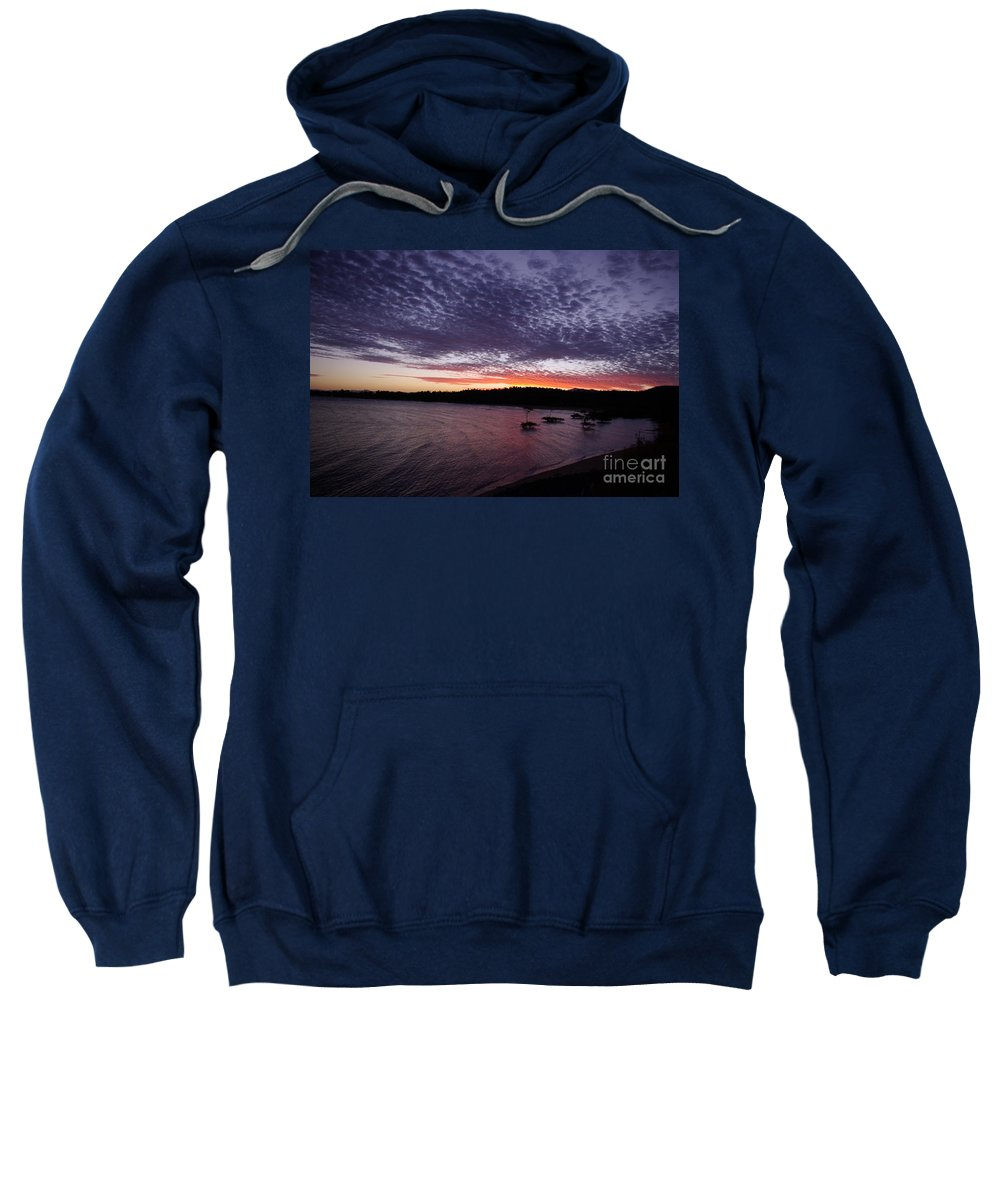 Landscape Sweatshirt featuring the photograph Four Elements Sunset Sequence 7 Coconuts Qld by Kerryn Madsen - Pietsch