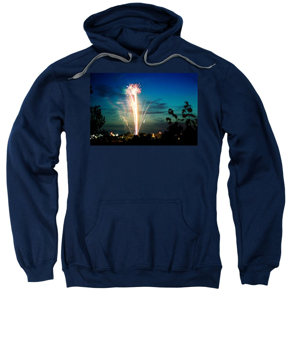 Landscape Sweatshirt featuring the photograph Fourth Of July by Steve Karol