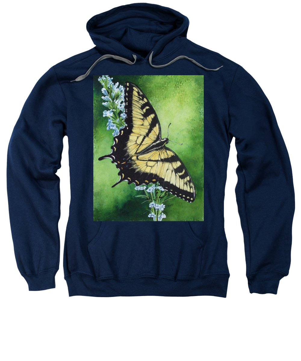 Bugs Sweatshirt featuring the mixed media Fragile Beauty by Barbara Keith