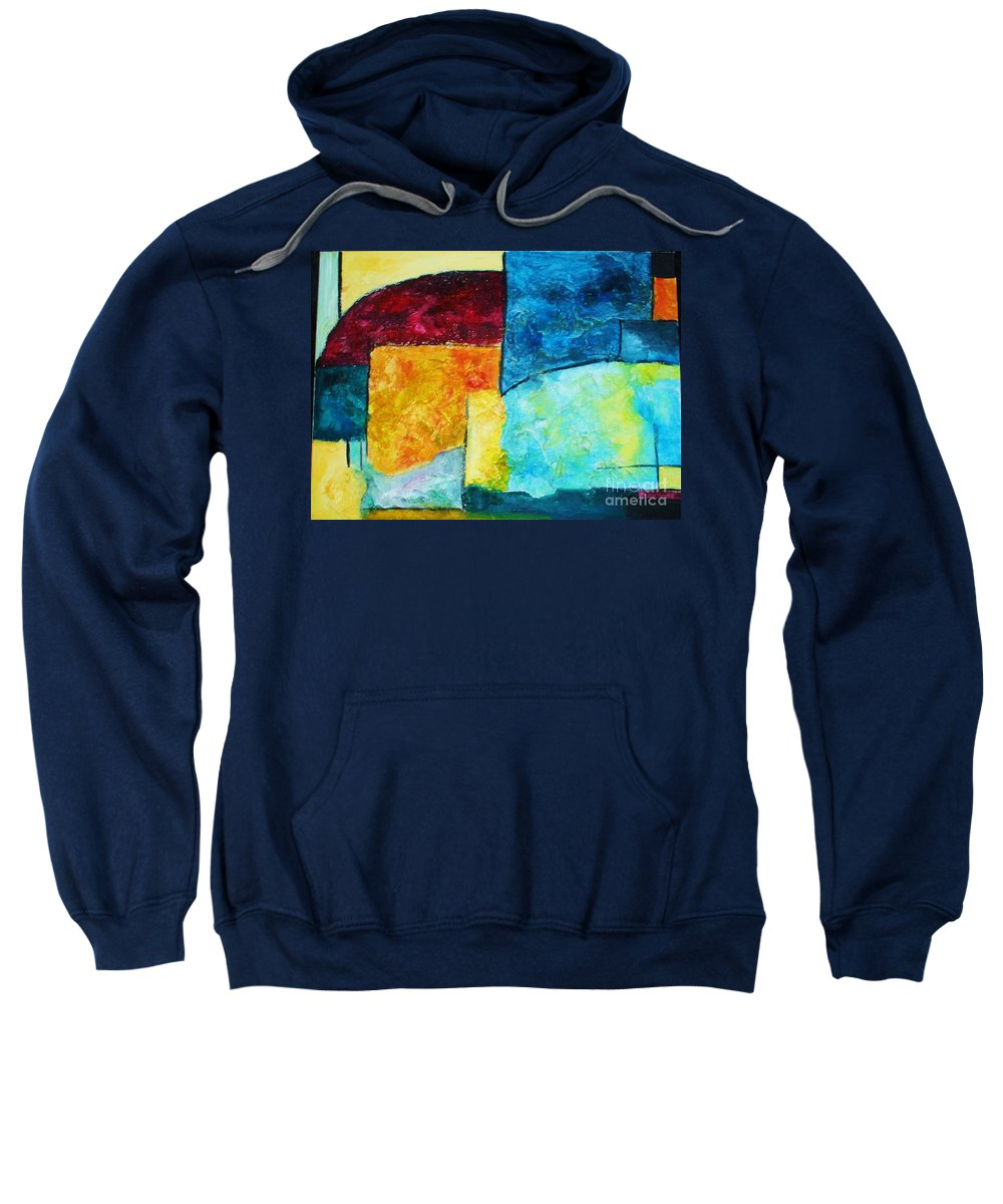 Acrylic Painting Sweatshirt featuring the painting Freedom by Yael VanGruber