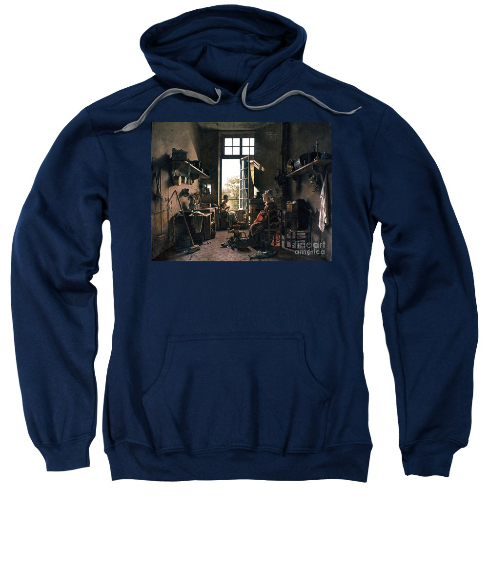 -domestic- Sweatshirt featuring the photograph French Kitchen by Granger