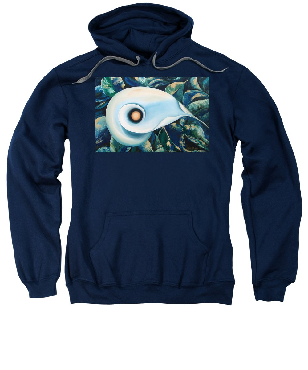 Flowers Sweatshirt featuring the painting From The Heart Of A Flower by Gina De Gorna