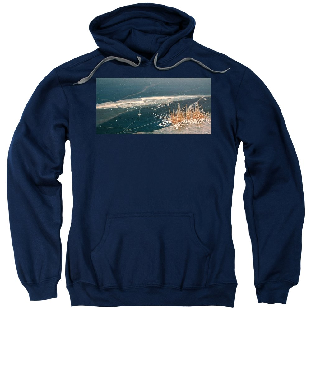 Llandscapes Sweatshirt featuring the painting Frozen In Time by Kenneth M Kirsch