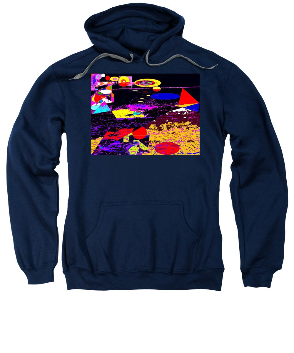 Abstract Sweatshirt featuring the digital art Galactic Voyages by Ian MacDonald