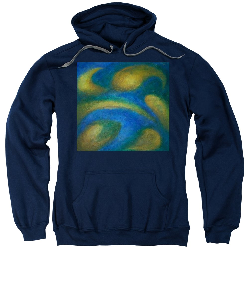 Abstract Sweatshirt featuring the painting Galaxia by Anita Burgermeister