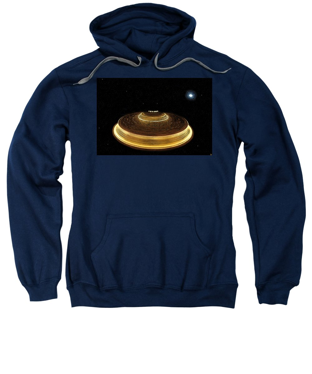Art Sweatshirt featuring the painting Galaxy Bound by David Lee Thompson