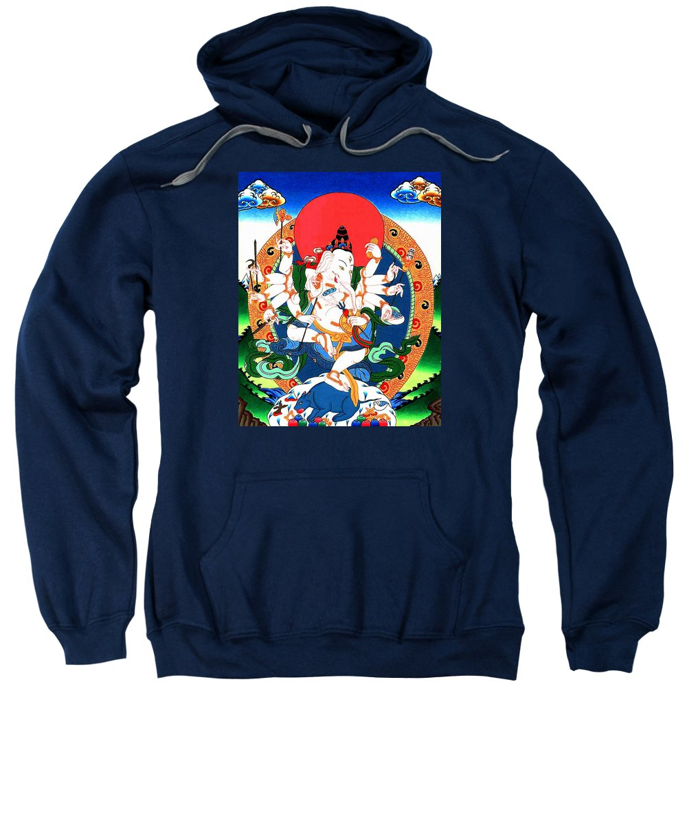 Ganesh Sweatshirt featuring the photograph Ganapati 1 by Jeelan Clark