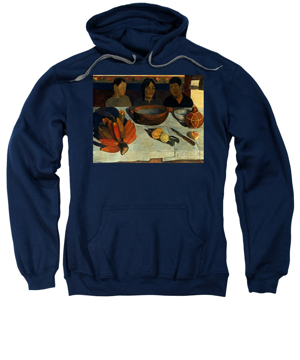 1891 Sweatshirt featuring the photograph Gauguin: Meal, 1891 by Granger
