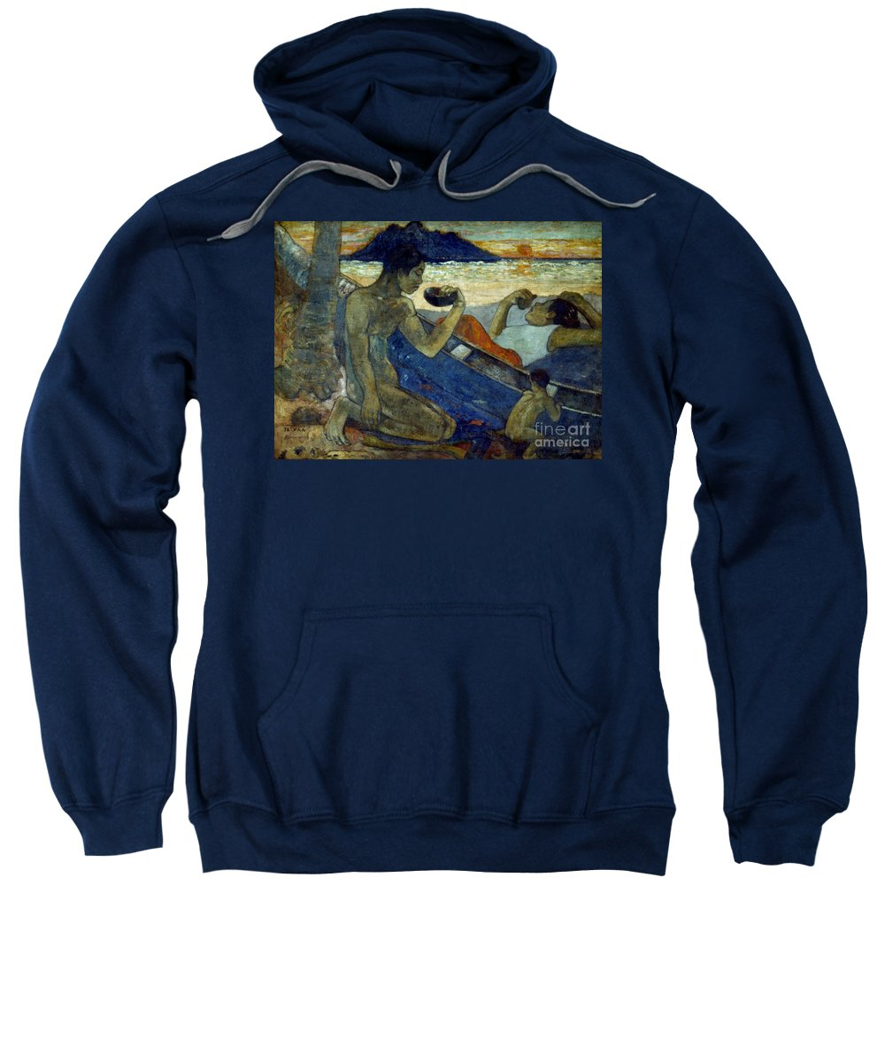 19th Century Sweatshirt featuring the photograph Gauguin: Pirogue, 19th C by Granger