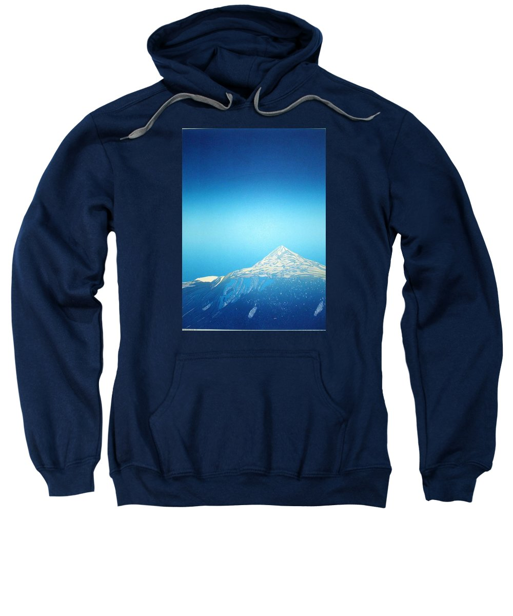 Sweatshirt featuring the drawing Gaustatoppen. by Jarle Rosseland