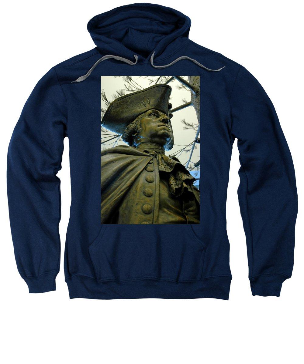 Usa Sweatshirt featuring the photograph General George Washington by LeeAnn McLaneGoetz McLaneGoetzStudioLLCcom