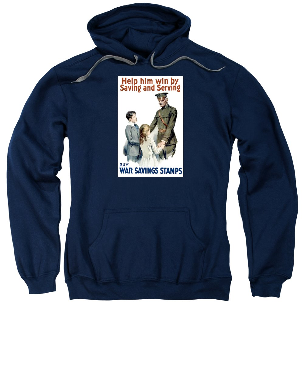 General Pershing Sweatshirt featuring the painting General Pershing - Buy War Saving Stamps by War Is Hell Store