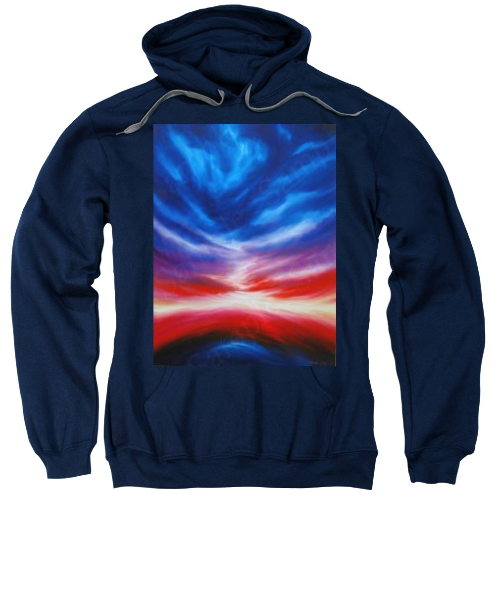 Tempest Sweatshirt featuring the painting Genesis IIi by James Christopher Hill
