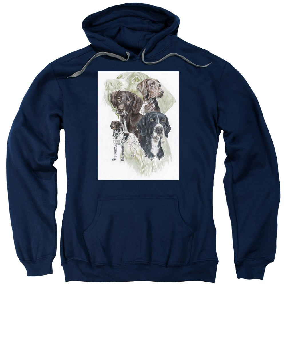 Gshp Sweatshirt featuring the mixed media German Shorted-haired Pointer W/ghost by Barbara Keith