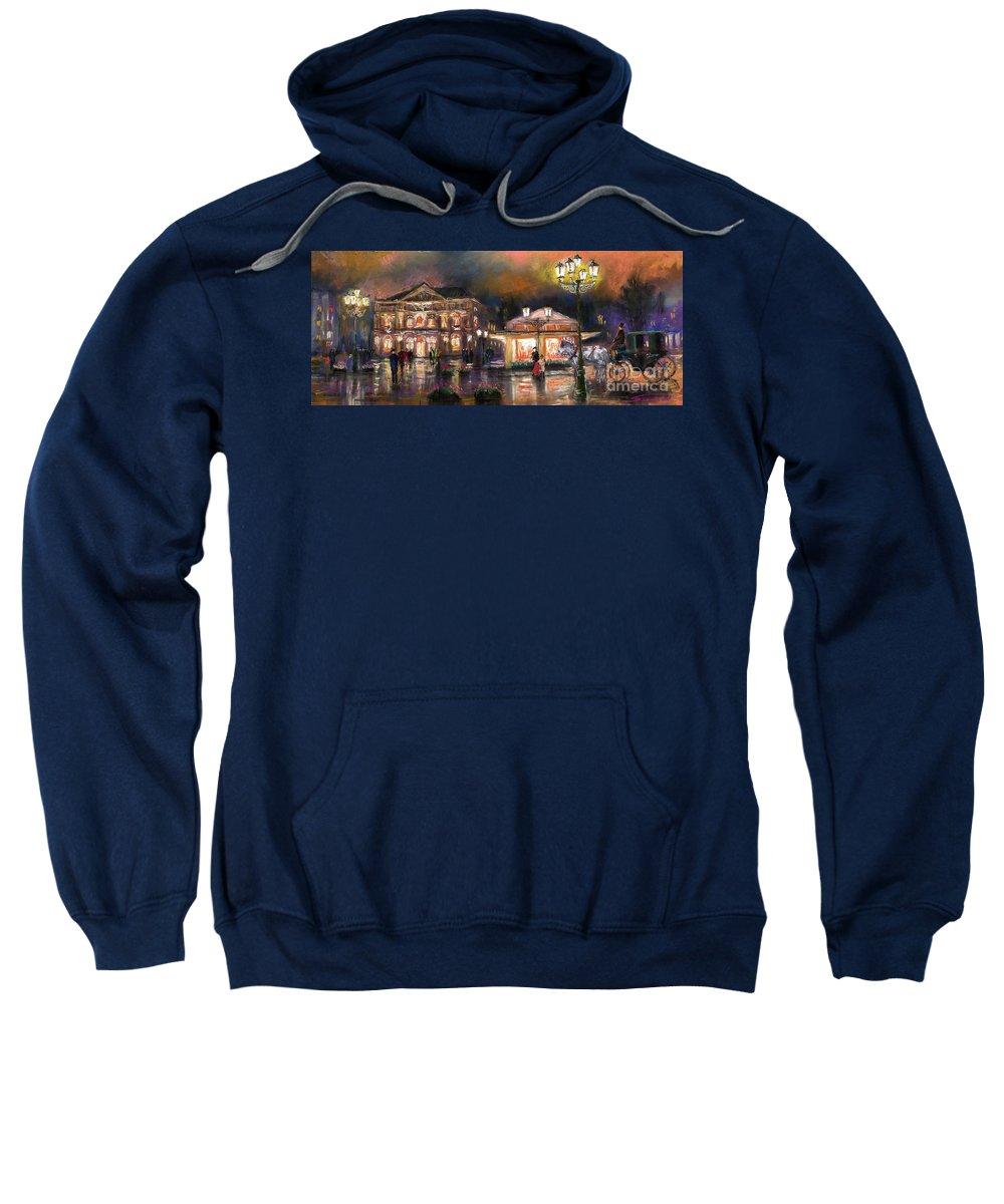 Pastel Sweatshirt featuring the painting Germany Baden-baden 14 by Yuriy Shevchuk